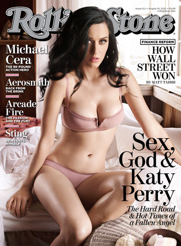 Katy Perry goes topless for Rolling Stones Cover Photo Shoot