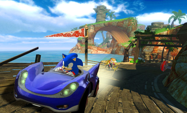 Sonic & Sega All-Stars Racing Game Trailer Poster