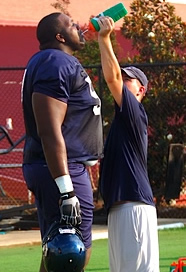 Terrel Brown the largest football player you\'ve ever seen?